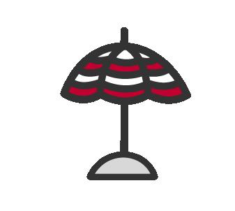 Imagen veraniega sombrilla